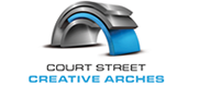 The Court Street Creative Arches Logo